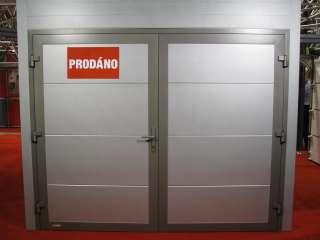 Dvoukřídlá Garážová vrata,design FLAT HLADKÝ Bílá, BVV Brno