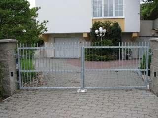 Dvoukřídlá Brána + branka+ pohon,hliníková kontrukce,Brno