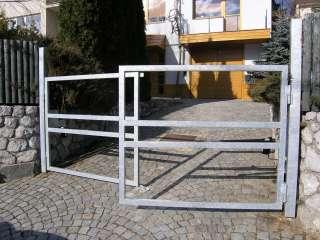 Dvoukřídlá ocelová brána bez výplně+žárově zinkováno+připrava pro dřevěnou výplň+El. pohony TOUSEK, BRNO