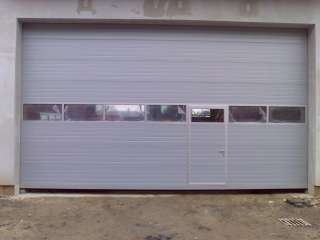 PRŮMYSLOVÁ VRATA s Hliníkovým prosklením +dveře+RAL9006