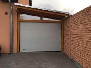 Garážová vrata sekční, design FLAT-HLADKÁ sekce, RAL Bílá, BRNO