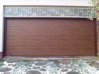Garážová Vrata sekční design LAMELA, TMAVÝ DUB, ostění Fe konstrukci