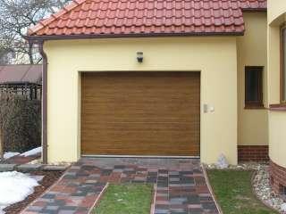 Garážová Vrata sekční design LAMELA, ZLATÝ DUB, Brno