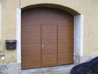Garážová Vrata sekční design LAMELA, ZLATÝ DUB, vstupní dveře, Jevíčko