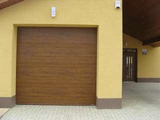 Garážová Vrata sekční design LAMELA, ZLATÝ DUB, Žebětín