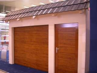 Garážová Vrata sekční design LAMELA, ZLATÝ DUB+vstupní dveře