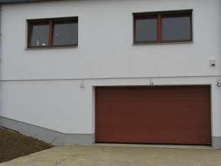 Garážová Vrata sekční design LAMELA,RAL HNĚDÝ,Brno