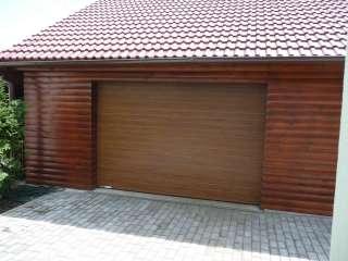 Garážová vrata sekční design LAMELA, TMAVÝ DUB-ořech, Brno