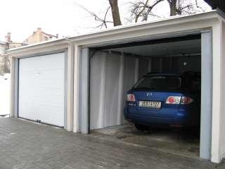 Garážová Vrata sekční design LAMELA, BÍLÁ do prefabrikátované garáže+ ocelová konstrukce, SVITAVY (3)